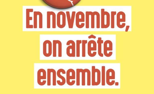 Affiche mois sans tabac : en novembre, on arrête ensemble